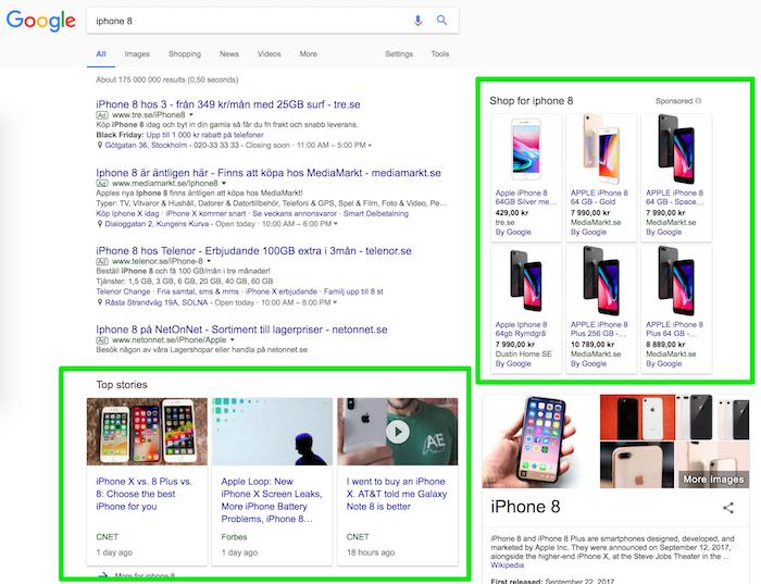 Mainostyyppejä google.se:stä