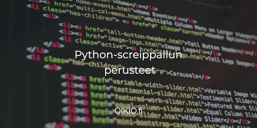 Python Sanakirja